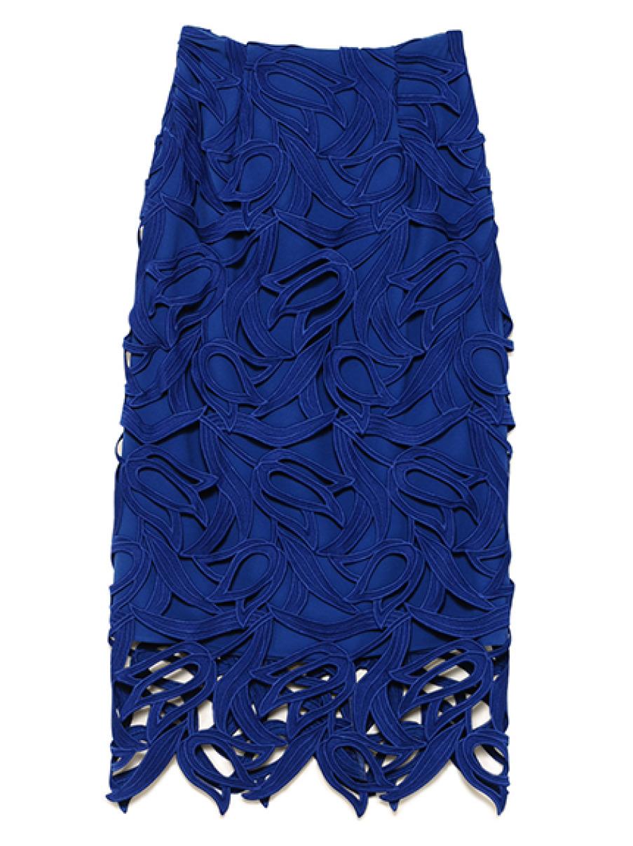 チューリップレーススカート(BLU(オフィシャルサイト限定カラー)-36)