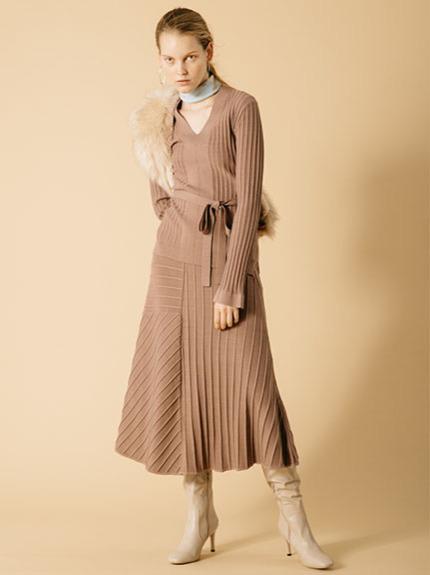 デザインリブアシメロングスカート