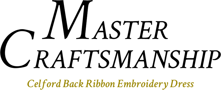 MASTER CRAFTSMANSHIP Celford Back Ribbon Emboridery Dress